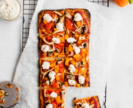 Vegan Flatbread Pizza with Cashew Ricotta