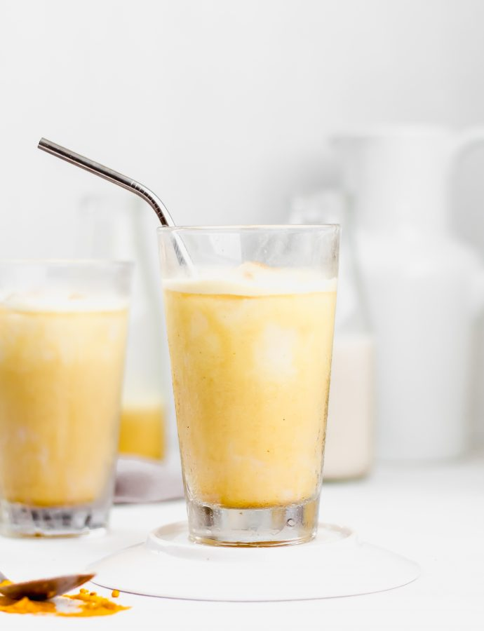 Iced Golden Ginger Latte